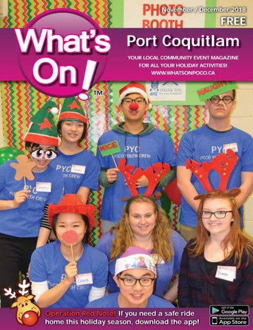 What's On Poco Nov/Dec 2018 by What's On Port Coquitlam - issuu