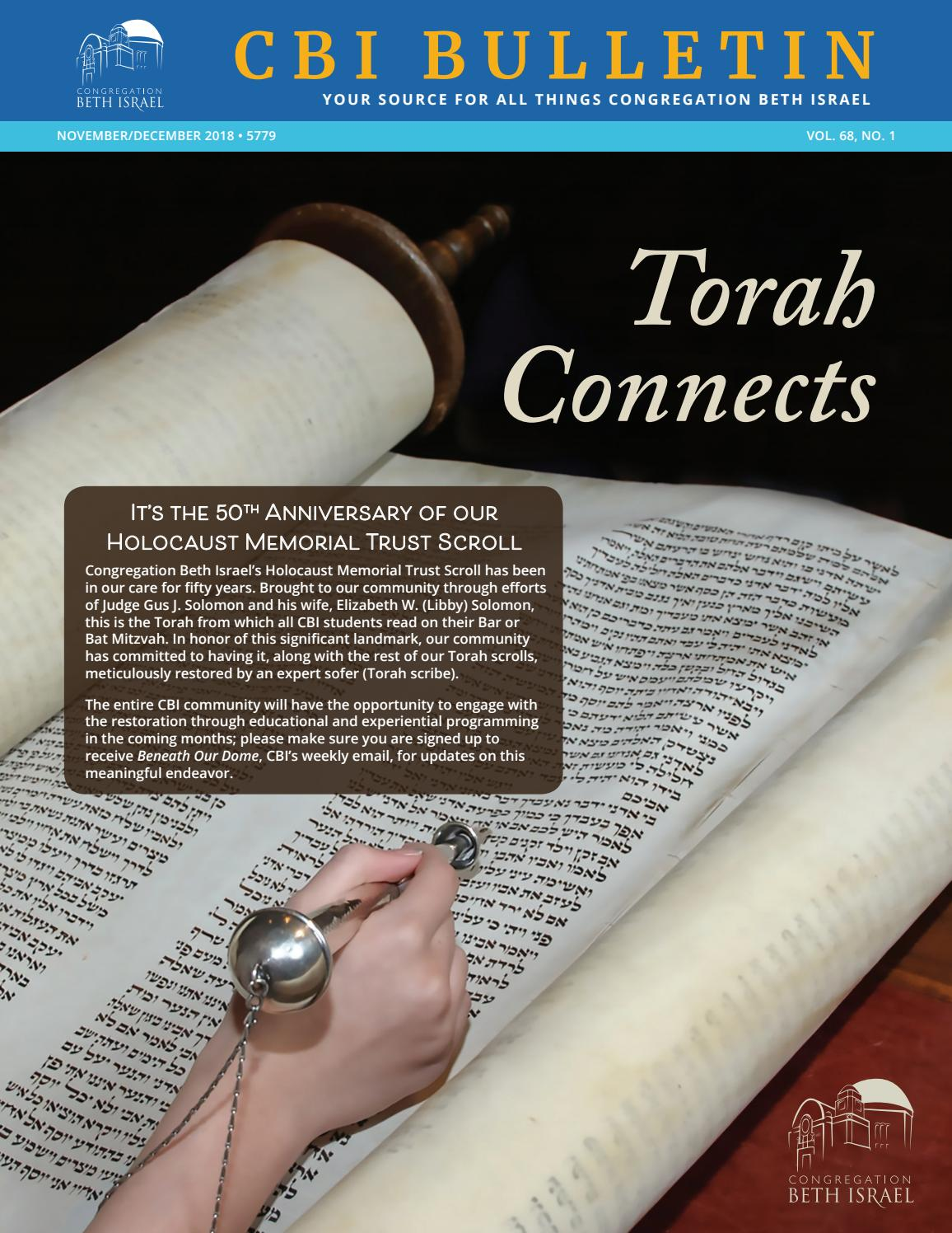 November/December 2018 Bulletin - Congregation Beth Israel, Portland ...