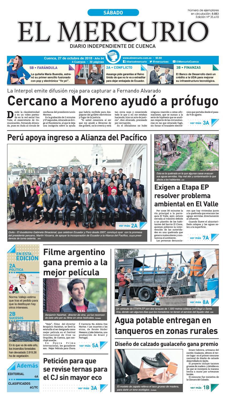 hemeroteca-27-10-2018 by Diario El Mercurio Cuenca - issuu 595aa12299e
