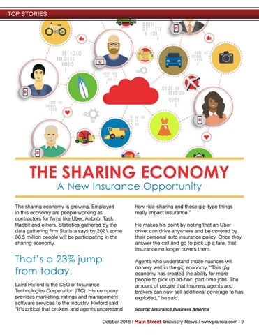 Page 9 of The Sharing Economy: A New Insurance Opportunity