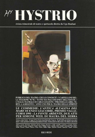 Hystrio 1991 4 ottobre-dicembre by Hystrio - issuu a8fde1355a01