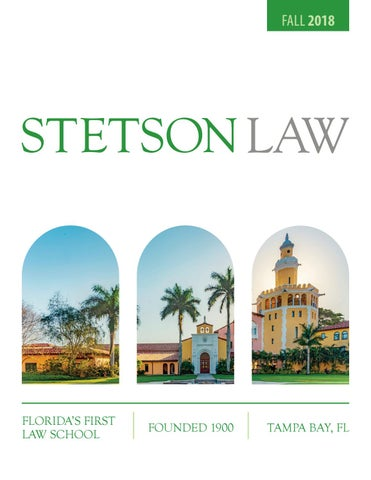8bdc0d18 2018-19 Stetson Law Viewbook by Stetson University College of Law ...