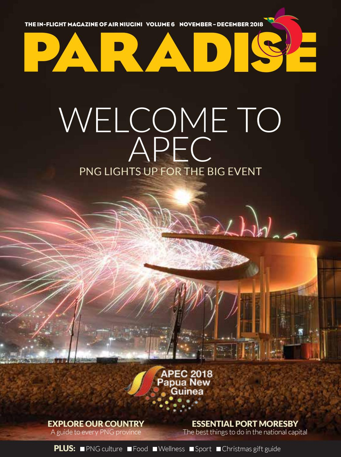 Paradise: the in-flight magazine of Air Niugini, November/December 2018 by  Business Advantage International - issuu