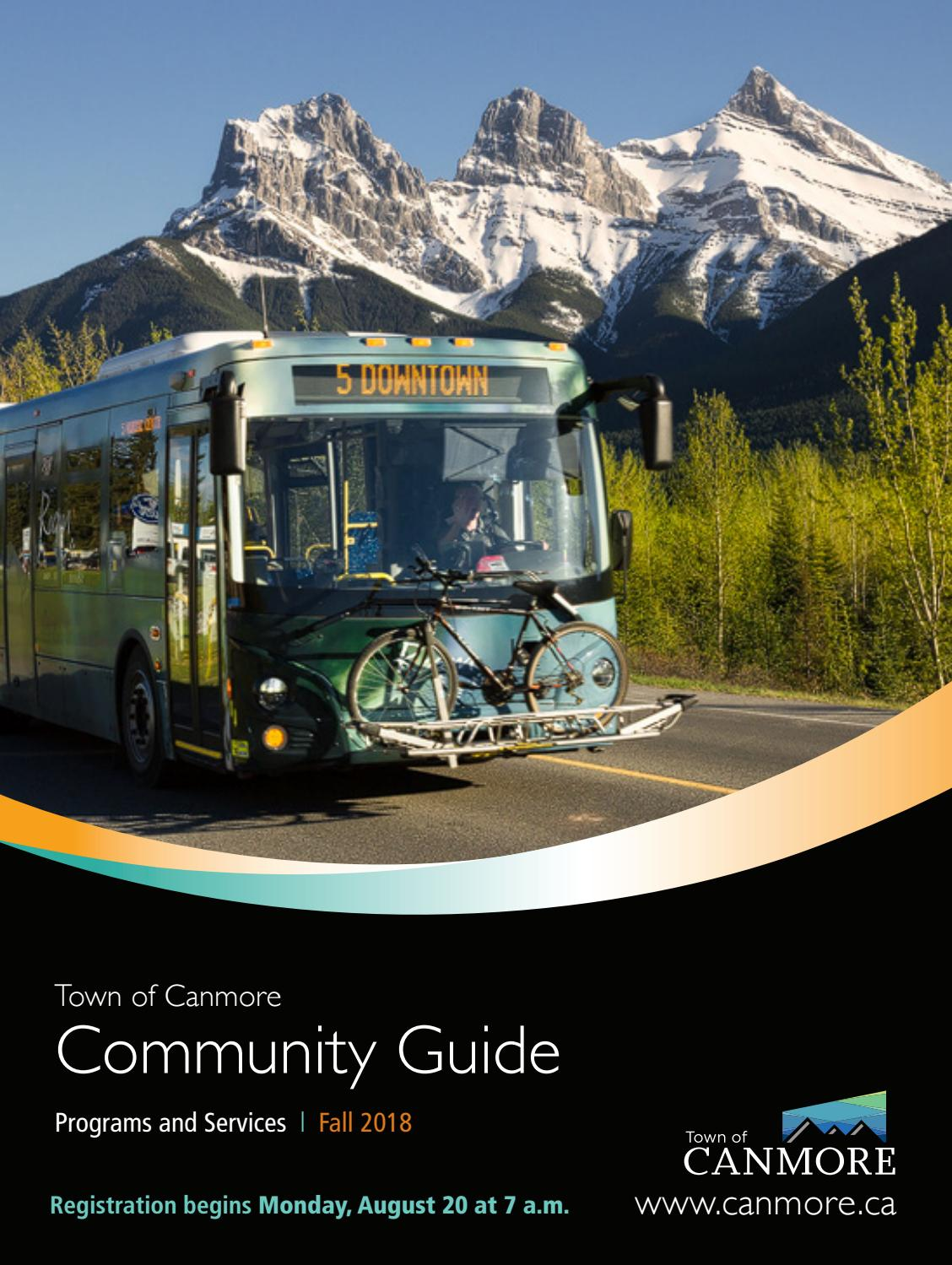 Town Of Canmore Fall 2018 Community Guide By Town Of Canmore Issuu