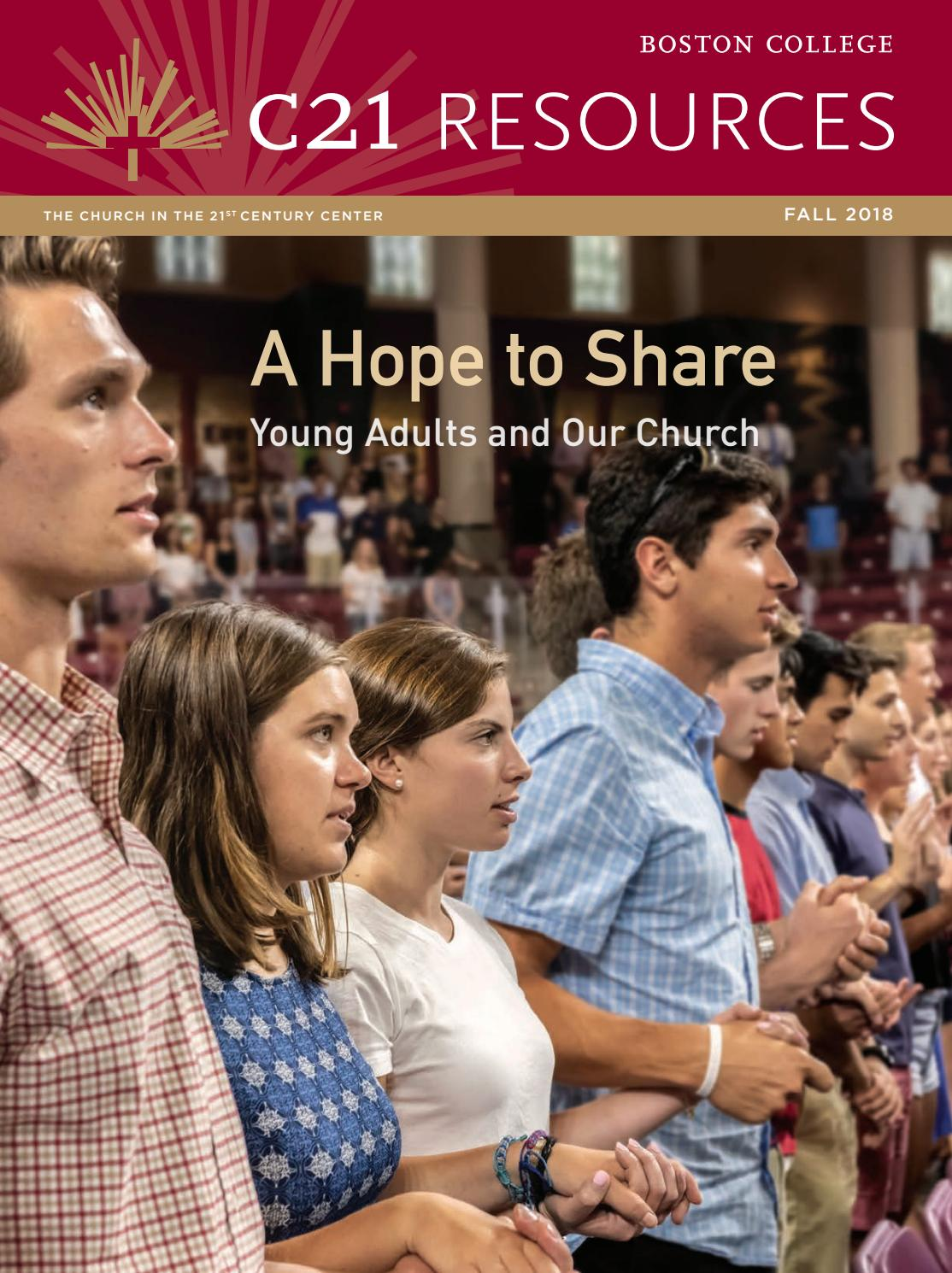 A Hope to Share: Young Adults and Our Church by The Church in the 21st  Century Center at Boston College - issuu