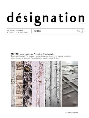 Désignation Vol 2 Un Journal Annuel De Art Design Et