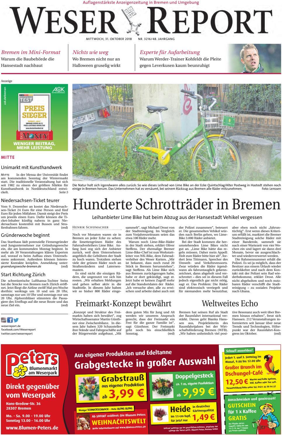 Weser Report   Mitte vom 9.9.9 by KPS Verlagsgesellschaft mbH ...