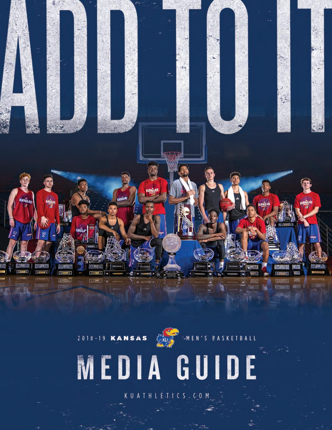 2018-19 Kansas Men's Basketball Media Guide by Kansas