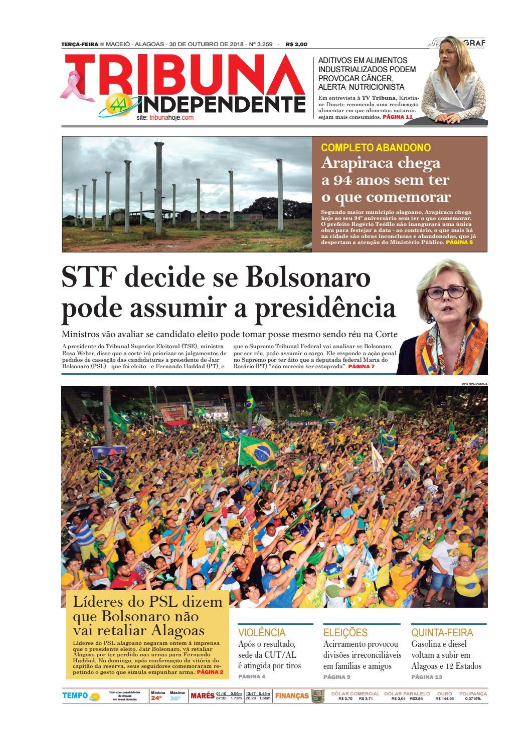 7875c5f3e4 Edição número 3259 - 30 de outubro de 2018 by Tribuna Hoje - issuu