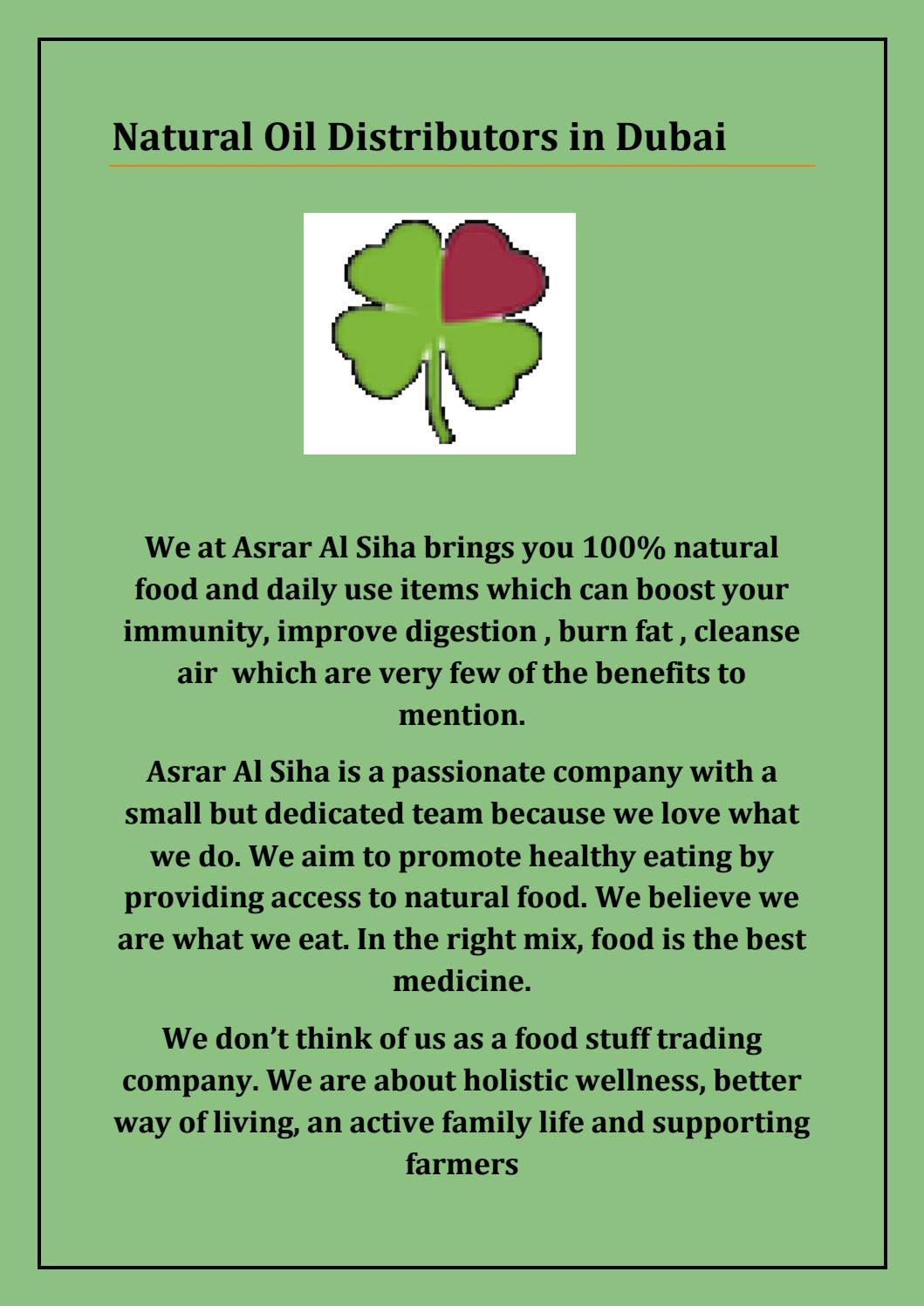 Natural Oil Distributors in Dubai by asraralsiha - issuu