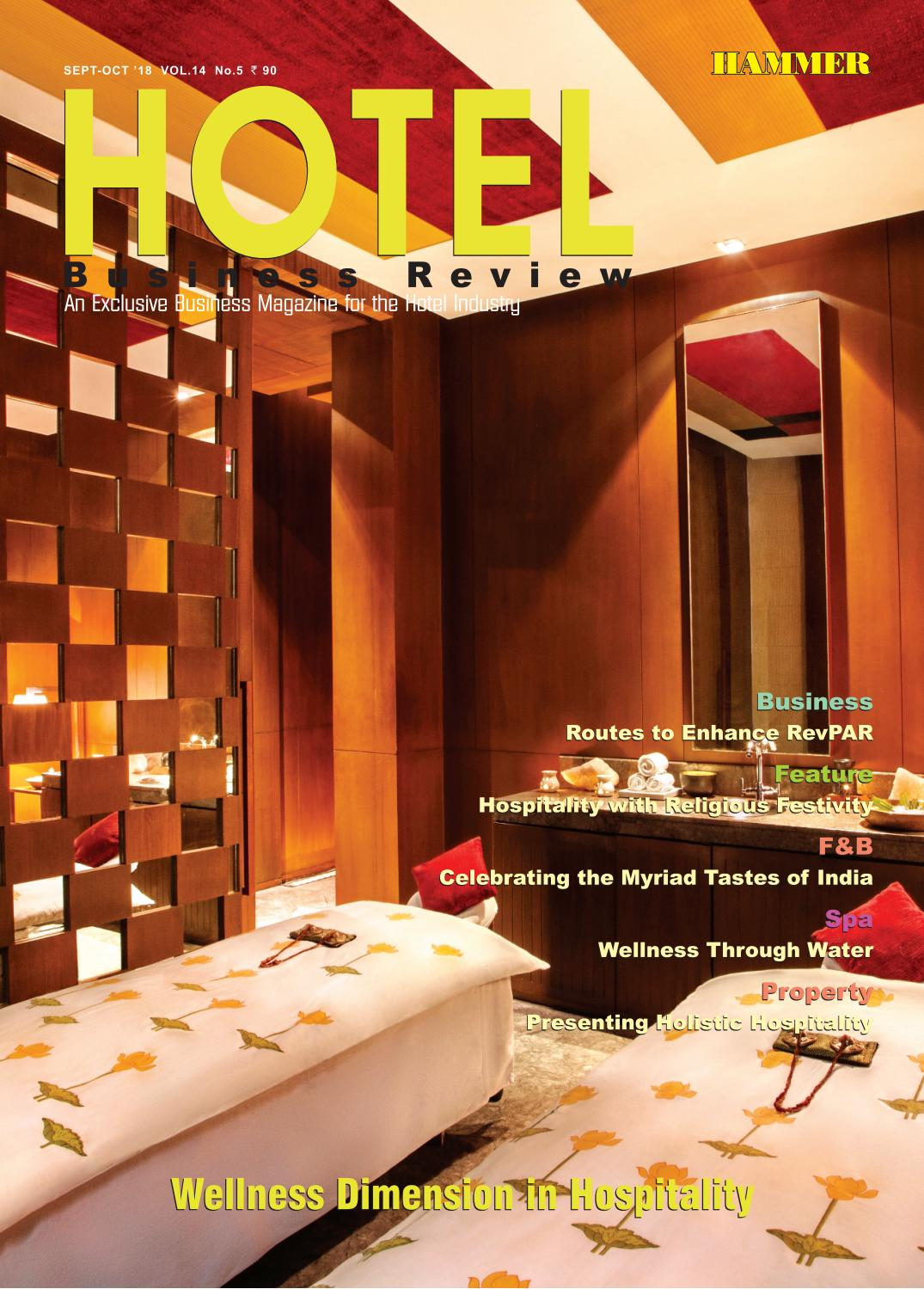385b55a5caf Hotel Business Review (Sep-Oct 2018) by Hammer Publishers Pvt. Ltd ...