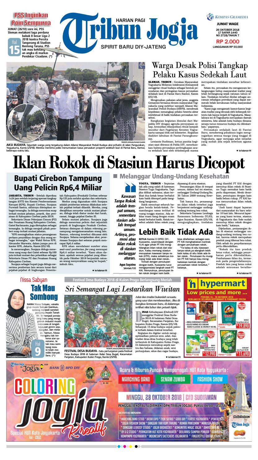 Tribun Jogja 26 10 2018 By Issuu Produk Ukm Bumn Batik Tulis Warna Alam Ra Ampamp