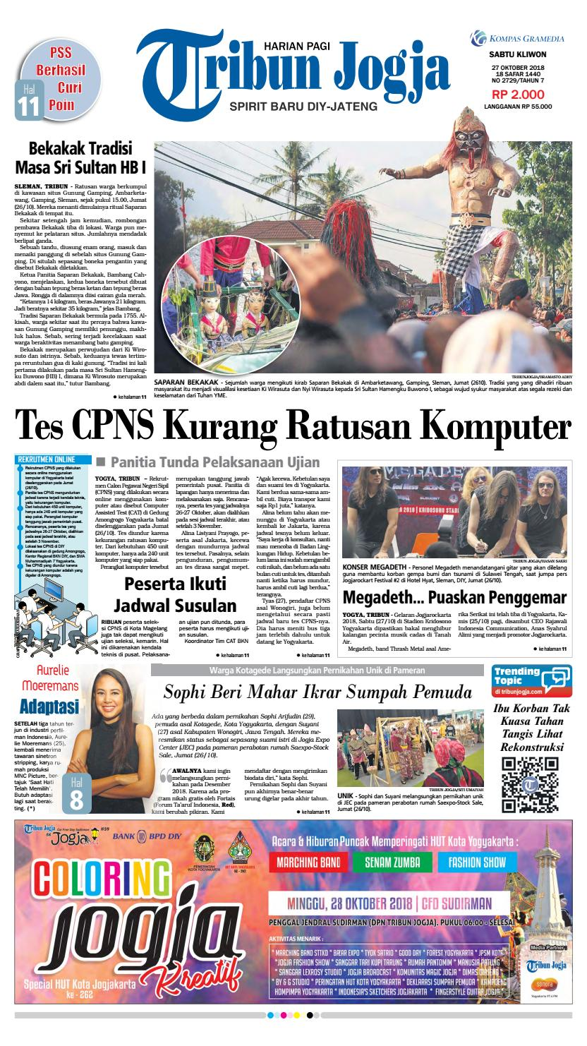 Tribun Jogja 27 10 2018 By Issuu Produk Ukm Bumn Batik Tulis Warna Alam Ra Ampamp