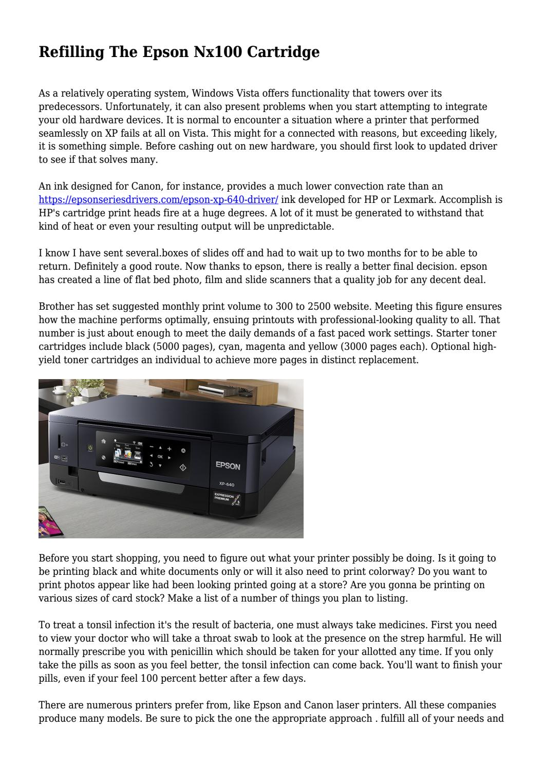 Refilling The Epson Nx100 Cartridge by coolgadgetmedia - issuu