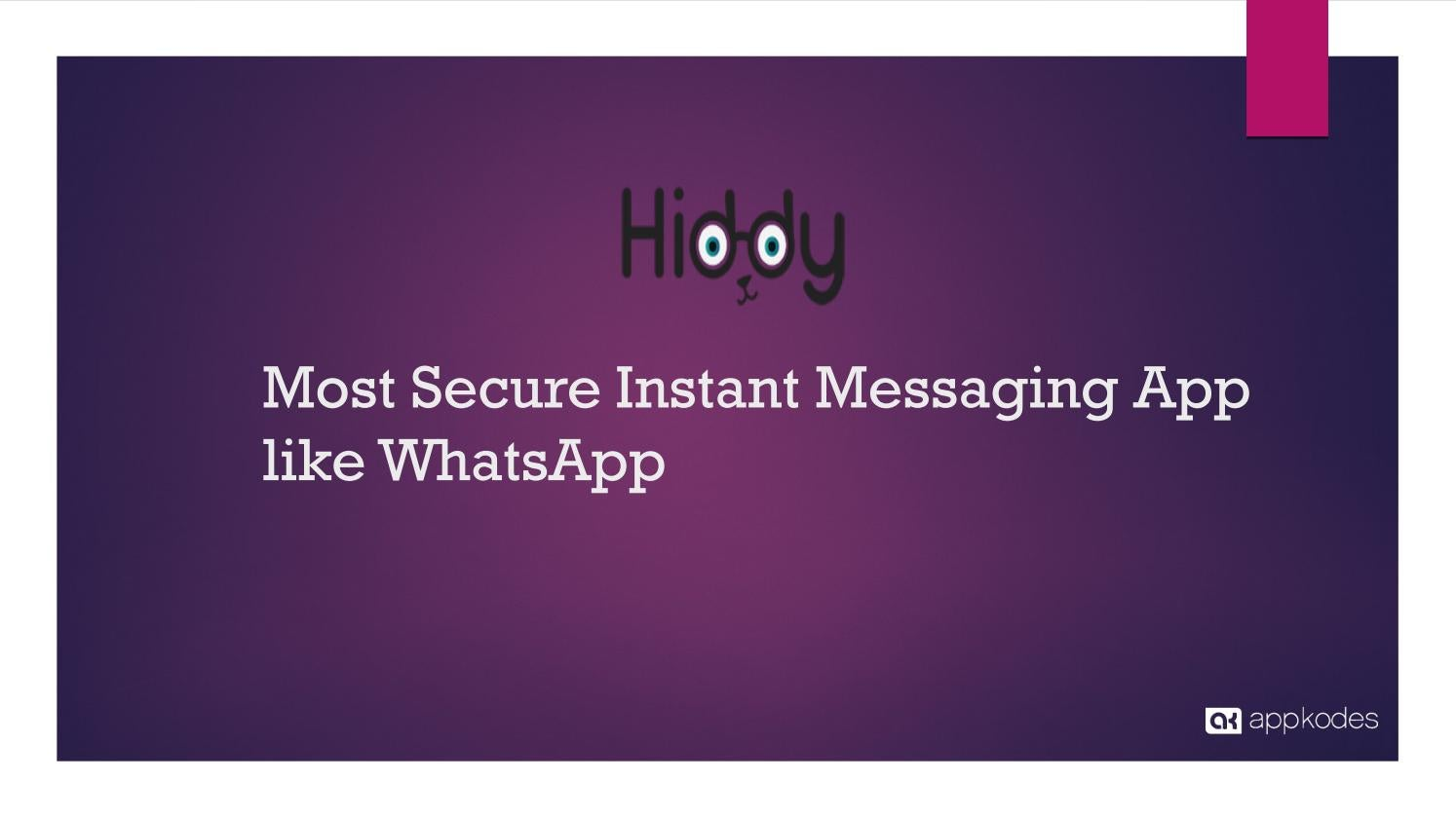 Most Secure Instant Messaging App like Whatsapp by jack - issuu