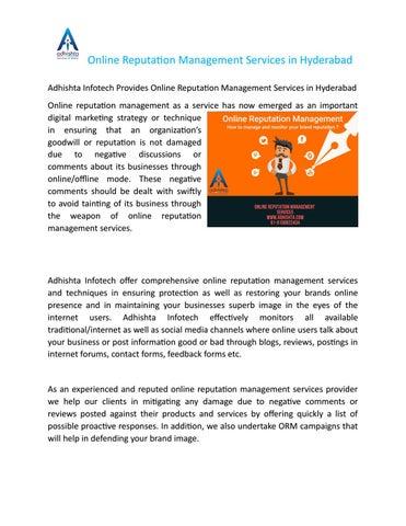 Best Online Reputation Management Services in Hyderabad by