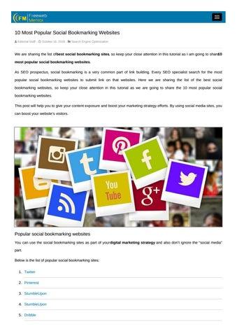 popular social media websites 2018