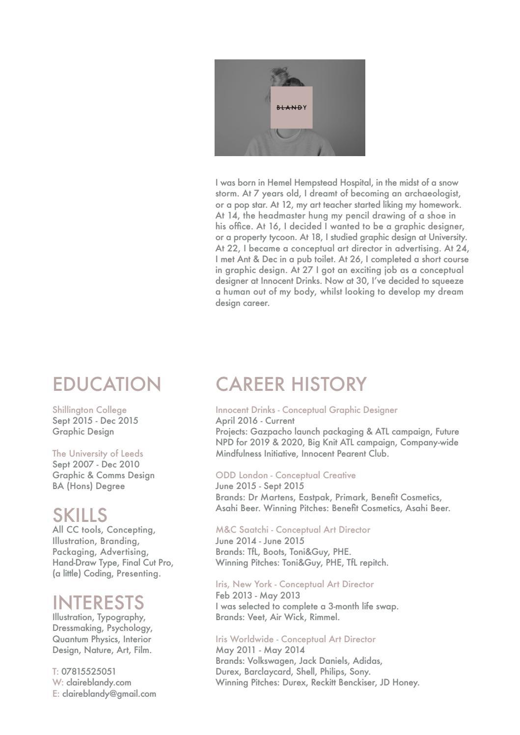 CV Claire Blandy by claireblandy - issuu