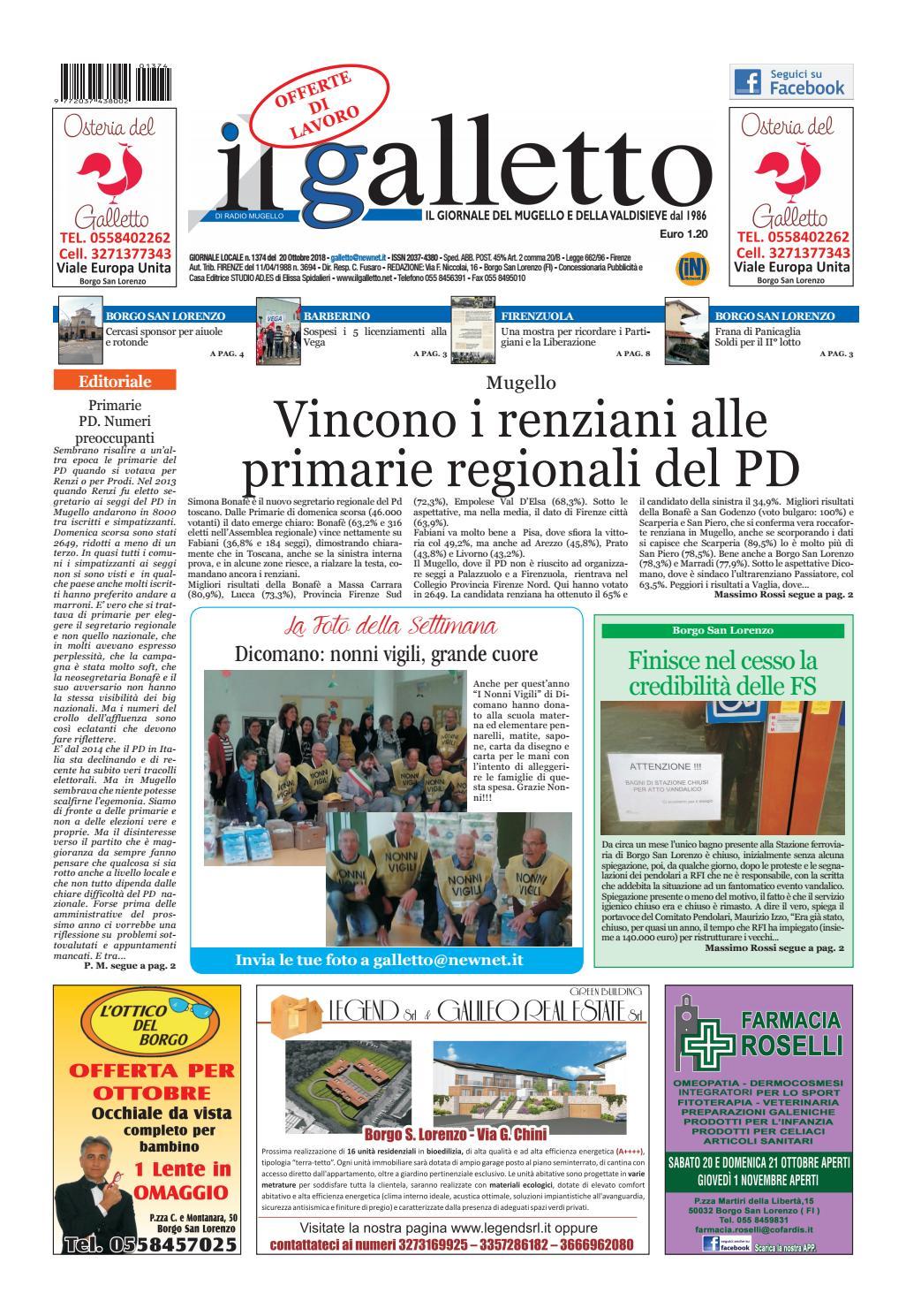 galletto del 20 ottobre by Il Galletto Giornale - issuu 5fe473c299e