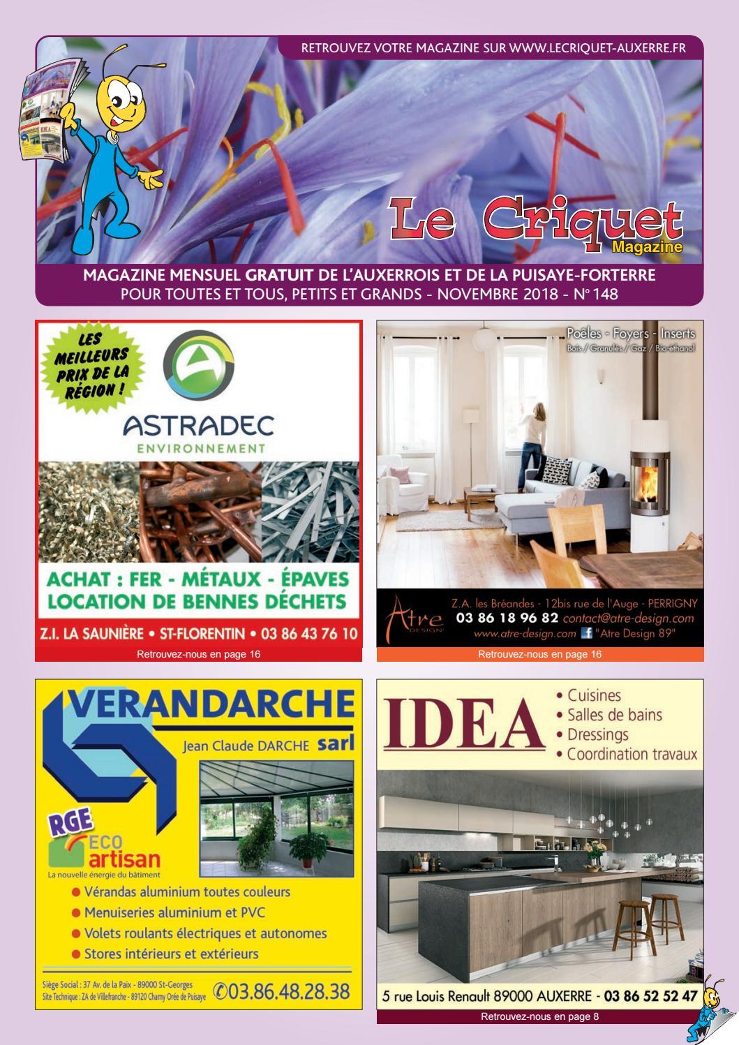 08a017bc9a5dc Le Criquet Magazine n°148, novembre 2018 by Proxilog - issuu