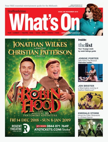 56a5672061 Staffordshire What's On November 2018 by What's On Magazine for ...