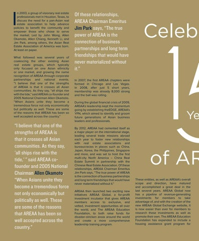 Page 32 of Celebrating 15 Years of AREAA