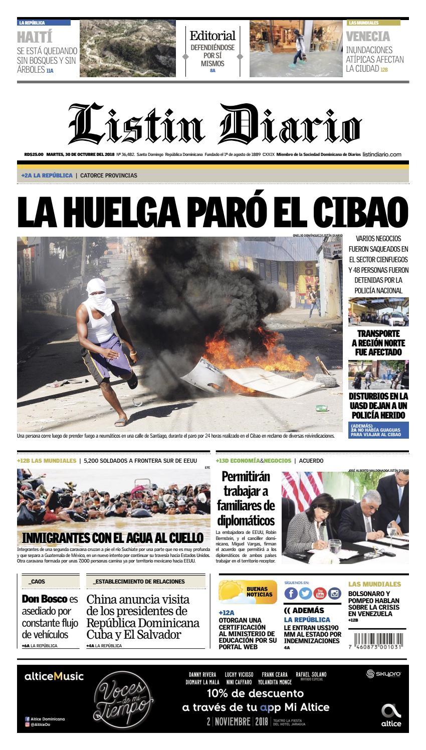 LD 30-10-2018 by Listín Diario - issuu 9e635a9f914