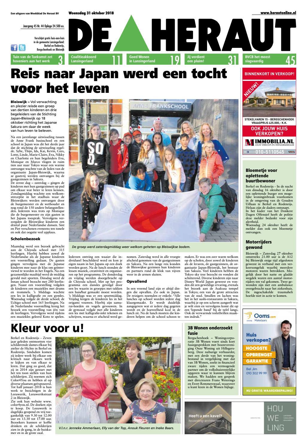 61d2258f865a8d De Heraut week 44 2018 by Nieuwsblad De Heraut - issuu