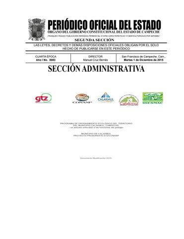 PERIÓDICO OFICIAL DEL ESTADO ÓRGANO DEL GOBIERNO CONSTITUCIONAL DEL ESTADO  DE CAMPECHE FRANQUEO PAGADO PUBLICACIÓN PERIÓDICA PERMISO No. f40ad336982