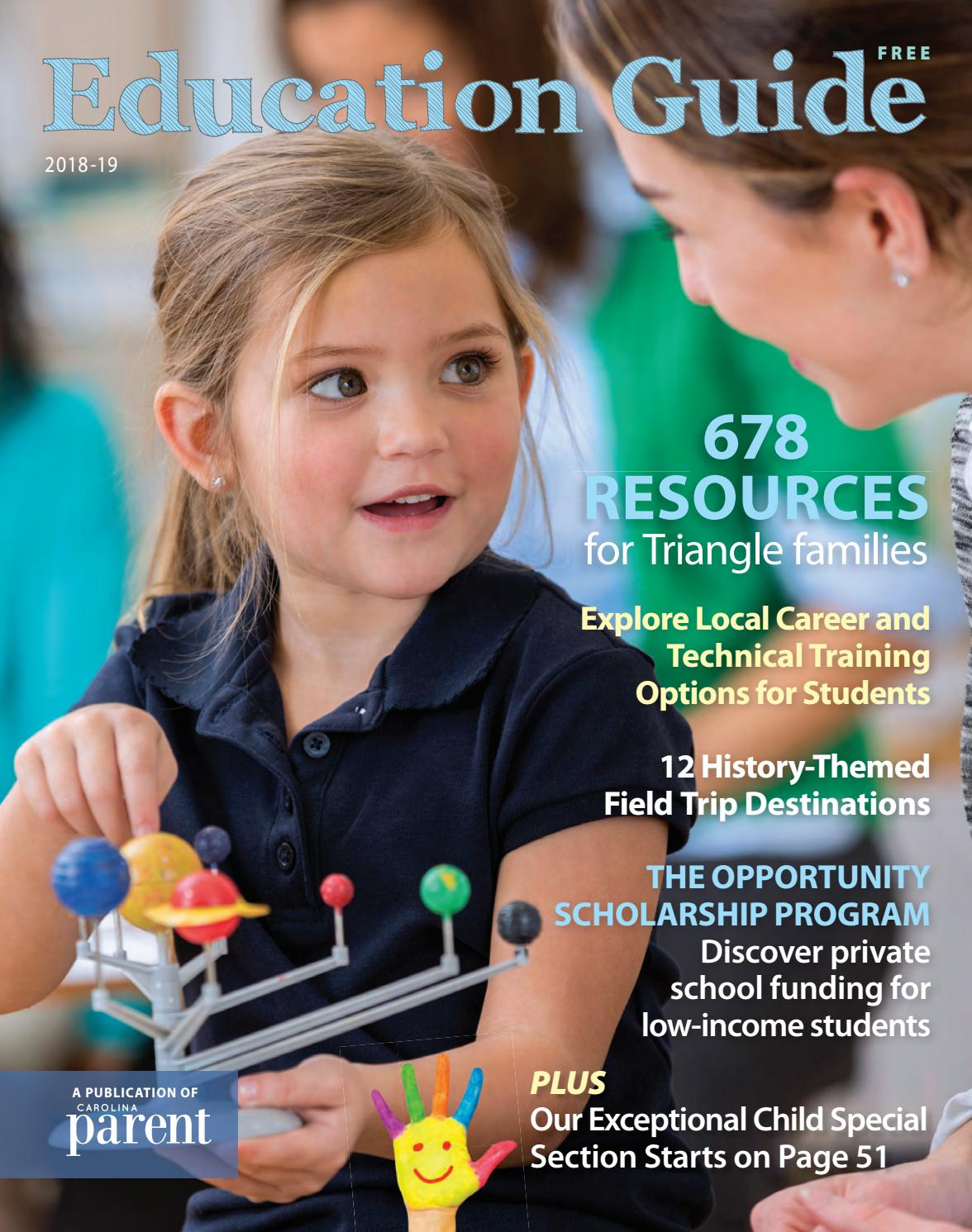 Carolina Parent Education Guide 2018-2019 by Morris Media