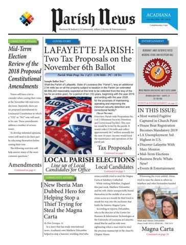 Parish News ~ Vol 1 No  9 ~ Oct/Nov 2018