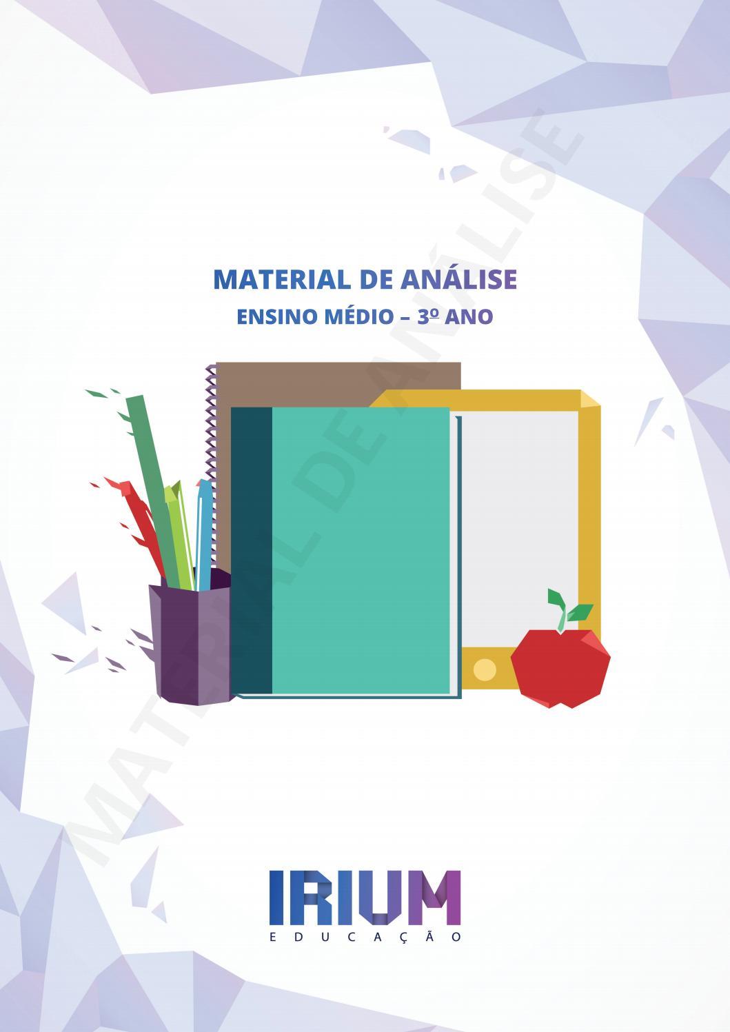 6d4f0486e4c Material de Análise - 3º ano, Ensino Médio by iriumeducacao - issuu