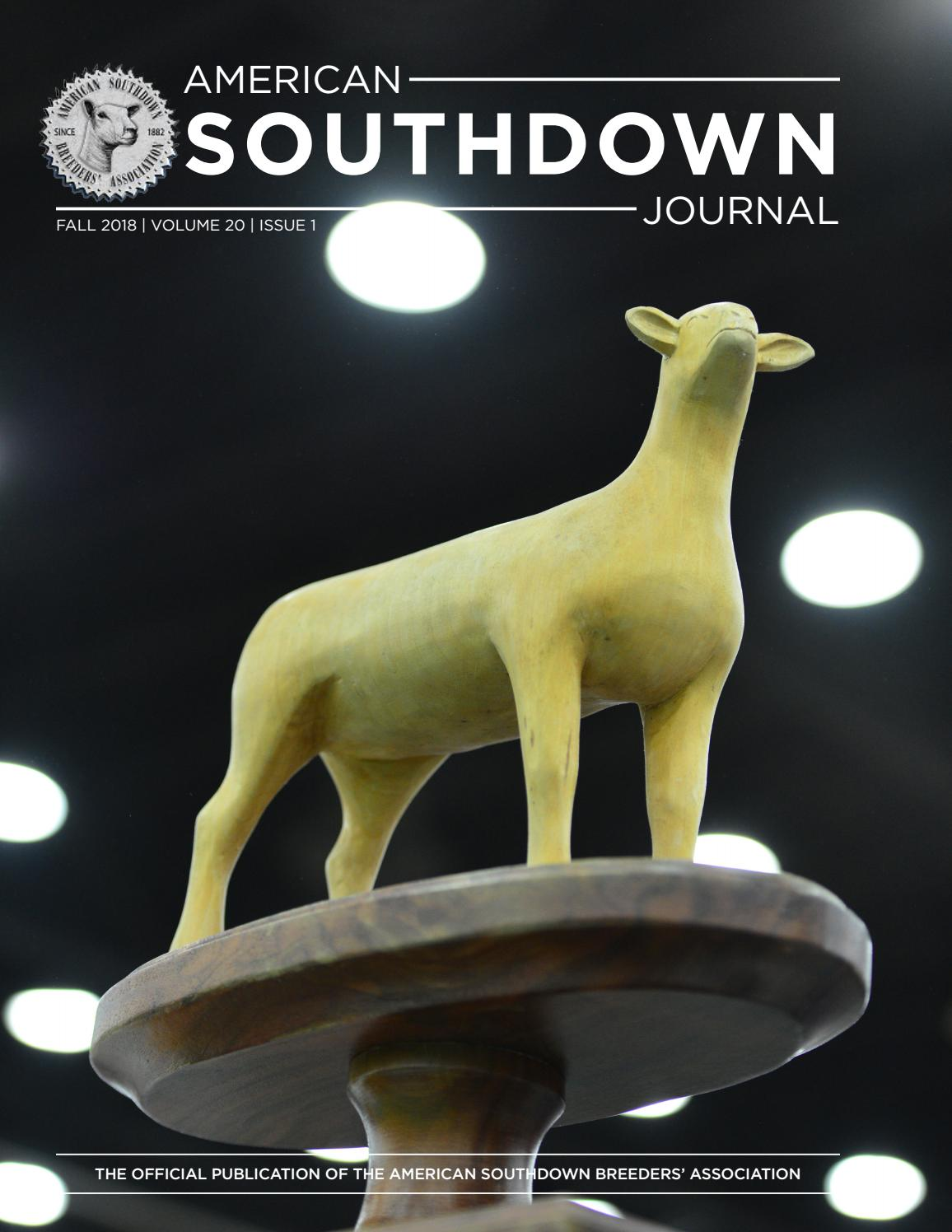 2018 American Southdown Journal by The American Southdown