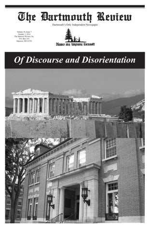 Of Discourse And Disorientation 1012014 By The Dartmouth Review