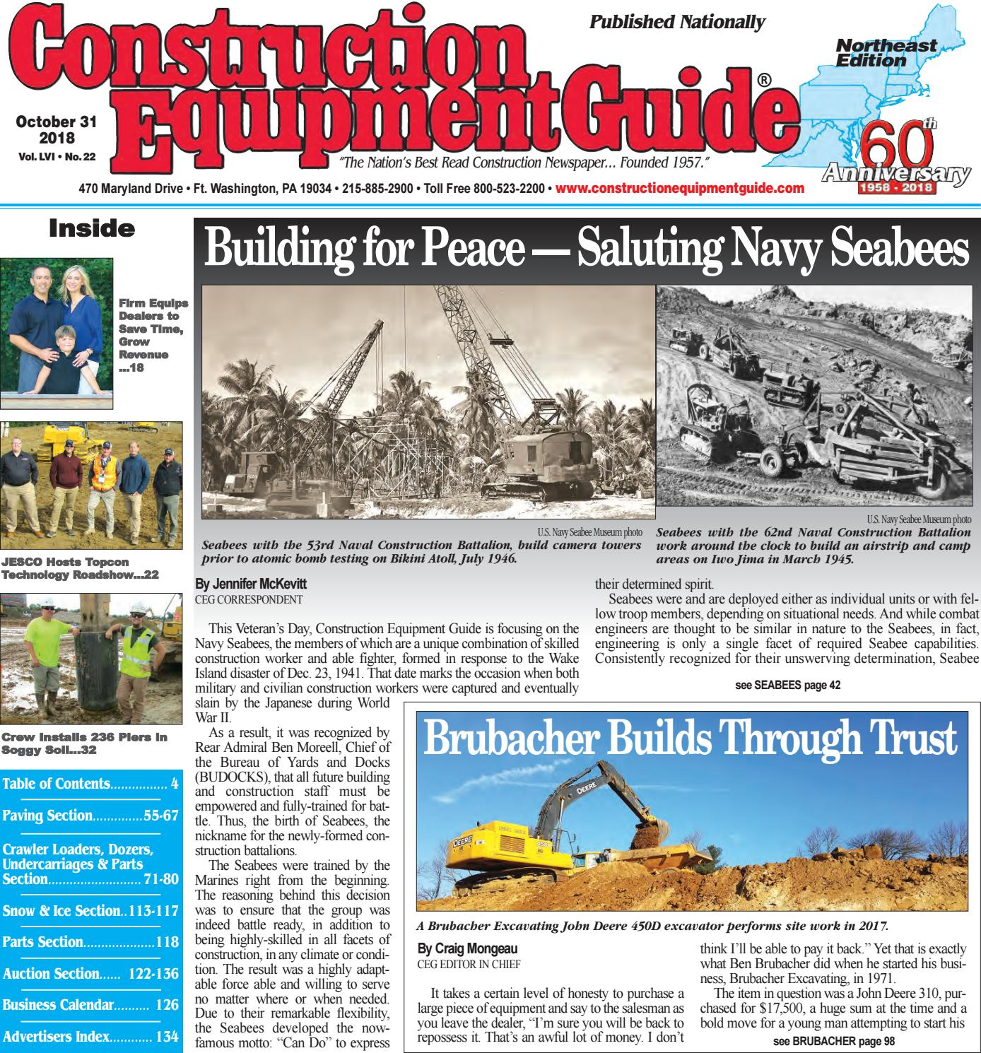 Northeast 22 October 31, 2018 by Construction Equipment Guide - issuu