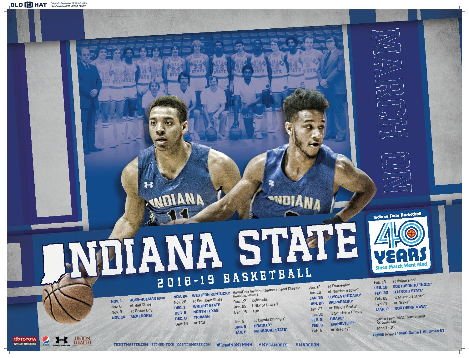 15697757a80 2018-19 Indiana State Basketball Yearbook by Ace Hunt - issuu