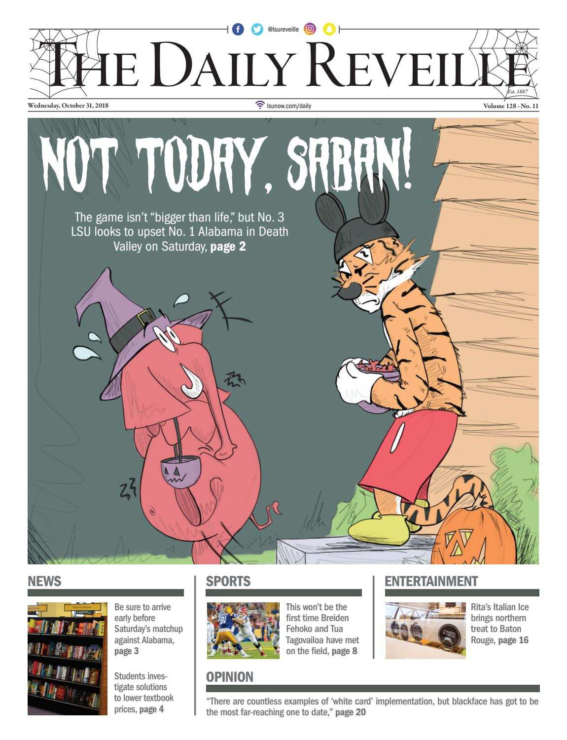The Daily Reveille 10-31-2018 by The Reveille - issuu