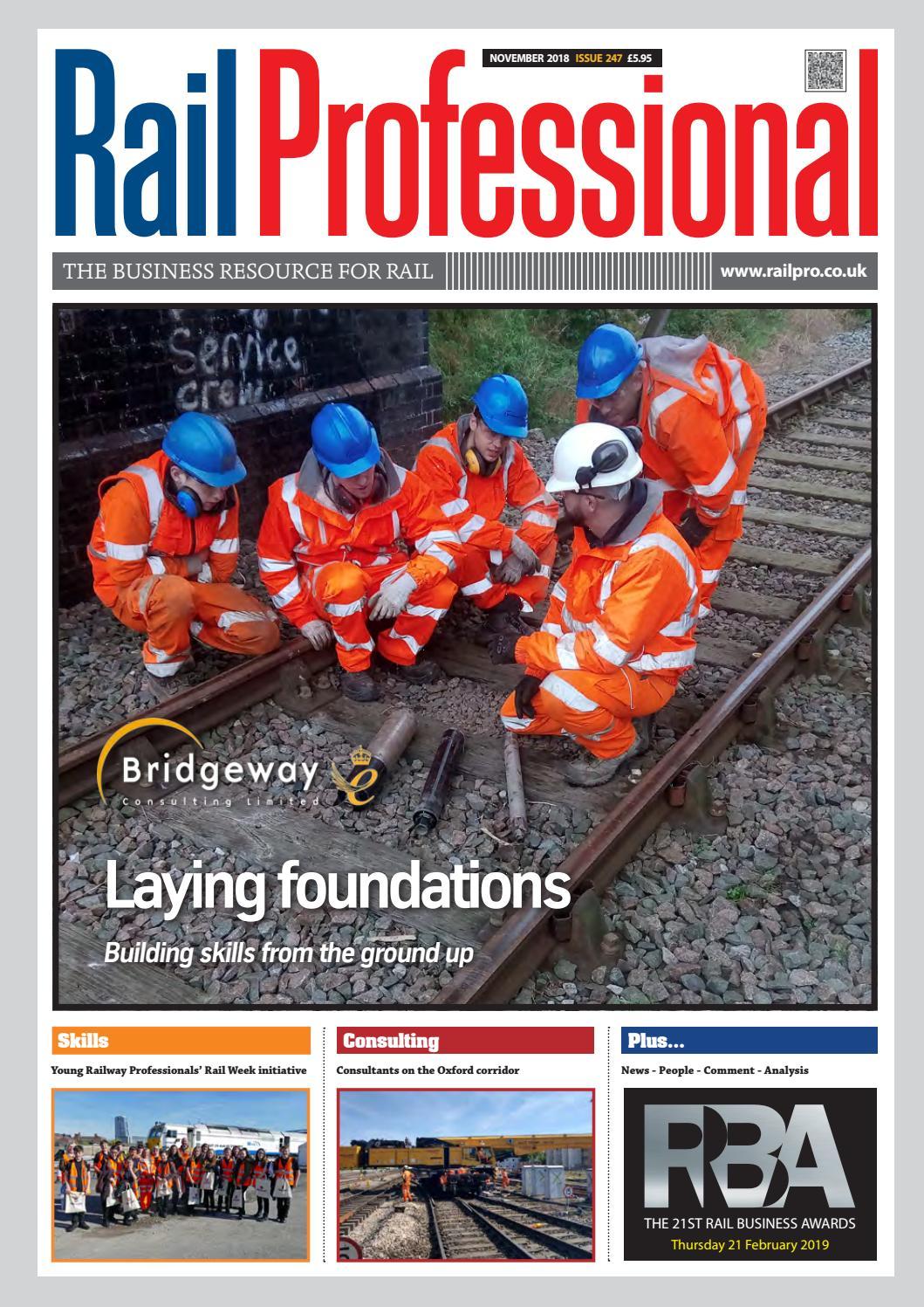 5ca893fd05 RAIL PROFESSIONAL - NOVEMBER 2018 ISSUE by Rail Professional Magazine -  issuu