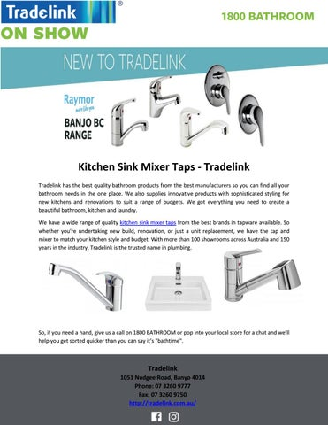 Kitchen Sink Mixer Taps Tradelink By Tradelink Plumbing Centres