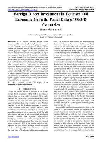 literature review on fdi and economic growth