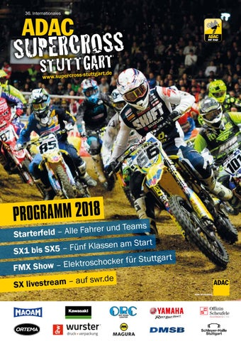 Adac Sx Stuttgart Programmheft 2018 By Agentur Mindconcepts