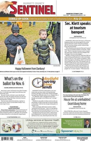 3357209a7820 The Burnett County Sentinel 10-31-2018 by Burnett County Sentinel ...
