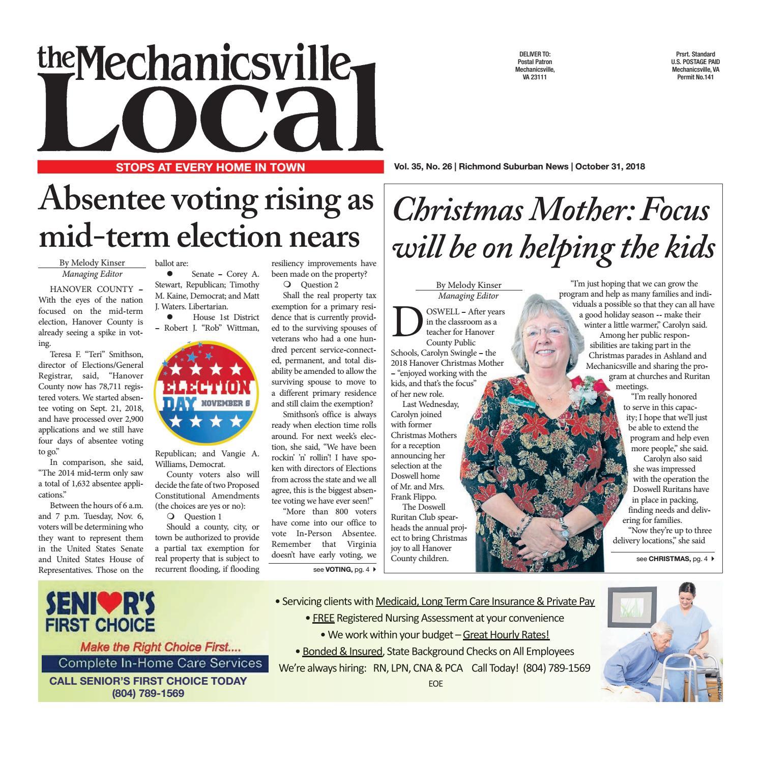 10 31 18 by The Mechanicsville Local - issuu 8743db9b487c