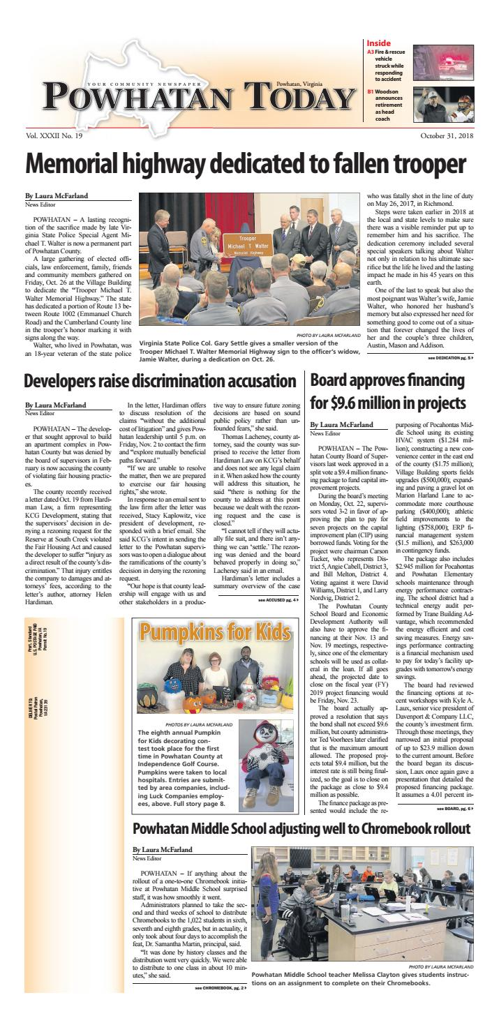 10/31/2018 by Powhatan Today - issuu