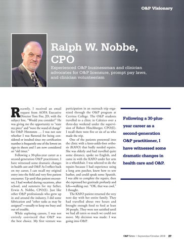 Page 29 of O&P Visionary: Ralph W. Nobbe, CPO