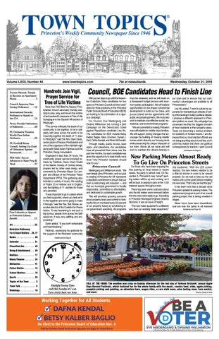 Town Topics Newspaper October 31 2018 By Witherspoon Media Group