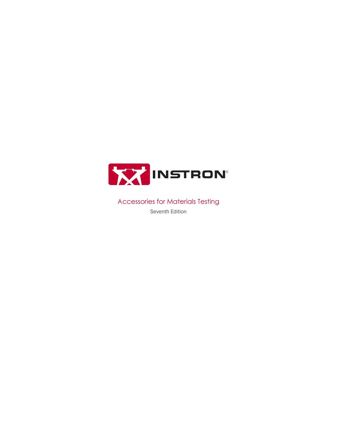 Instron - Accessories for Materials Testing - Seventh Edition by ...