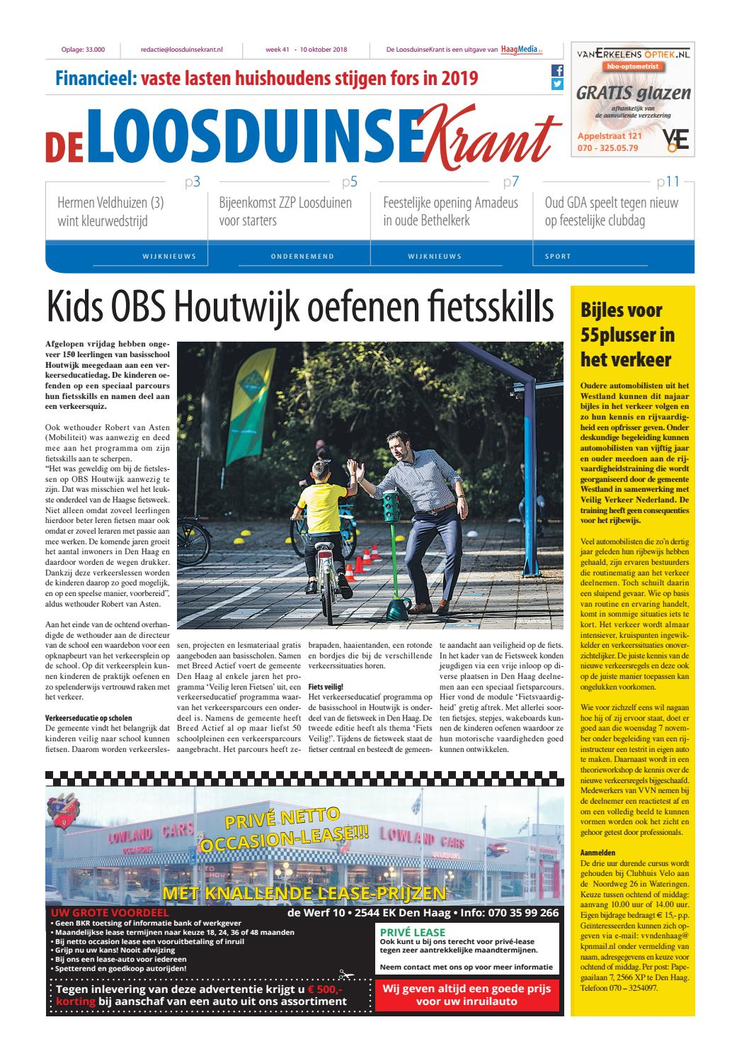 Deloosduinsekrant Week 41 2018 By Haagmedia Issuu