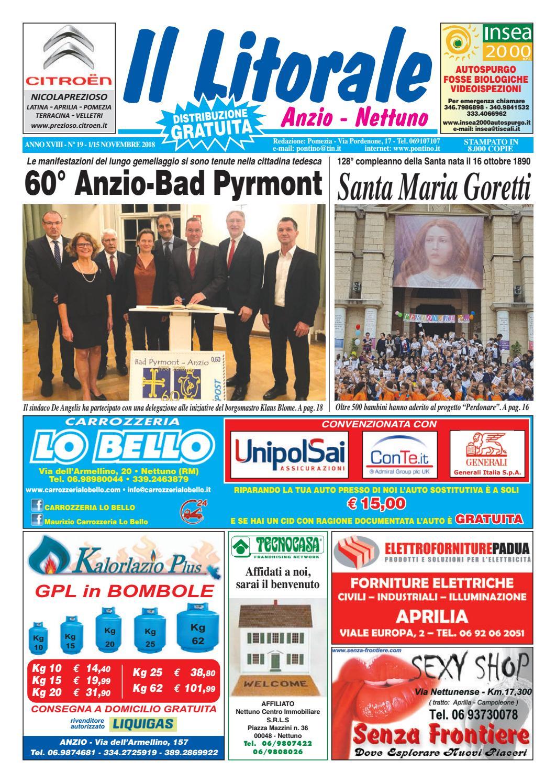IL LITORALE - Anno XVIII - N. 19 - 1 15 Novembre 2018 by Il Pontino Il  Litorale - issuu 2163e6910875