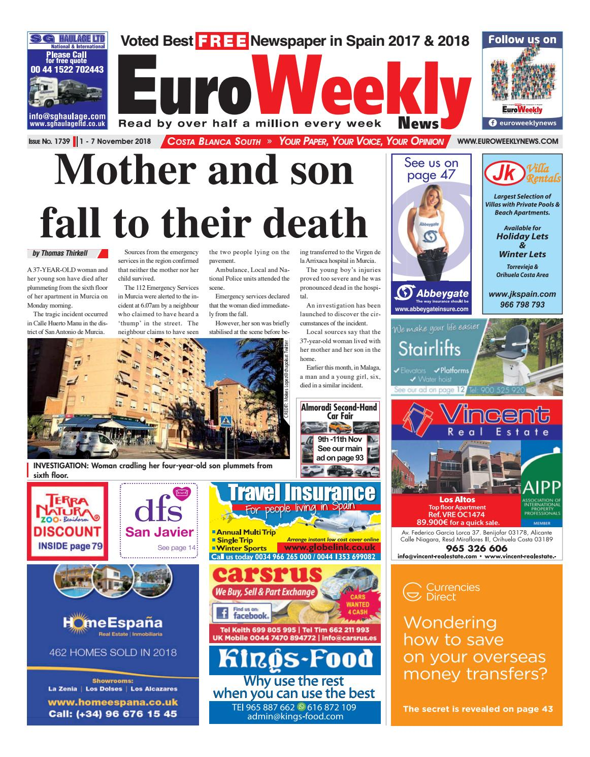 pretty nice 9946c e94d8 Euro Weekly News - Costa Blanca South November 1-7 2018 Issue 1739 by Euro  Weekly News Media S.A. - issuu